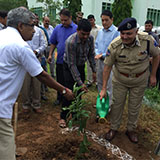 Sri. S. P. Singh, IAS, Chief Secretary to Govt. of Telangana & Vice Chairman, NAC visited to NAC and participated in Haritha Haram Programme in NAC Campus on 19 July 2017